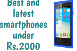 7 Best And Latest 3G Smartphones Under Rs.2000
